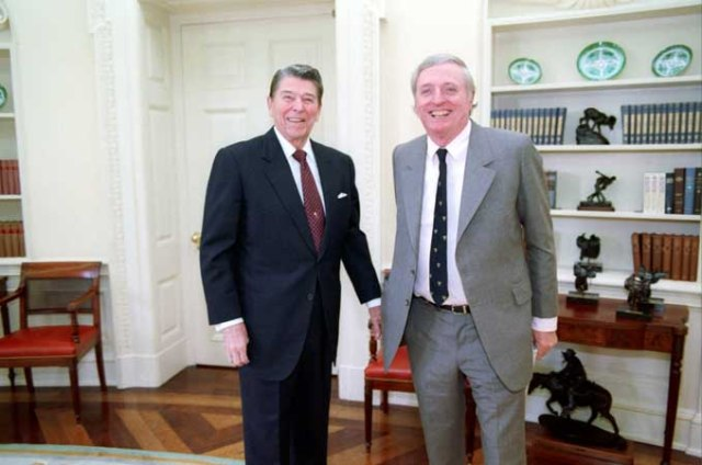 1/21/1988 President Reagan meeting with William F Buckley in oval office