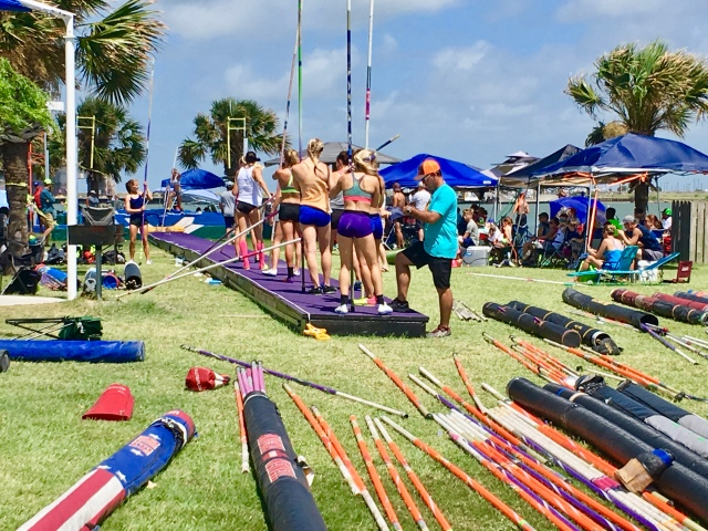 Pole Vaulting in Port Aransas