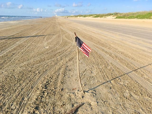 Flag on the beach