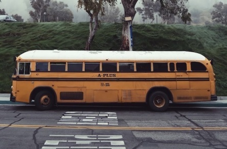 Picture of an old time school bus