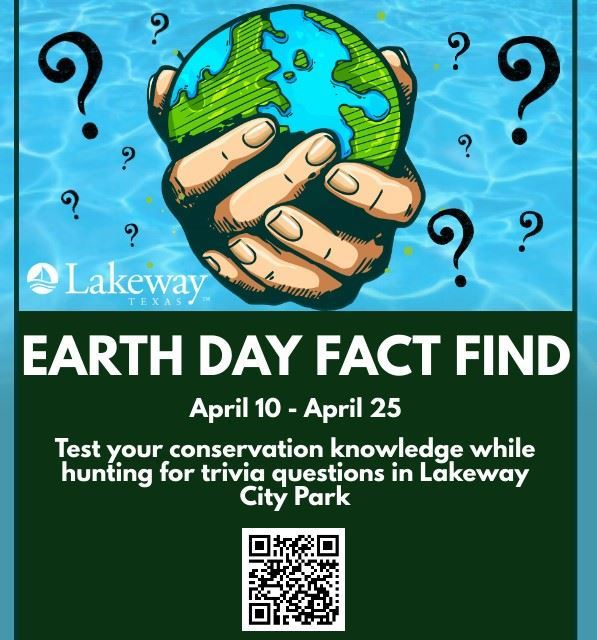 Poster showing Earth Day Fact Find