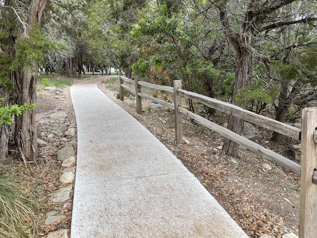 Photo of a concrete path
