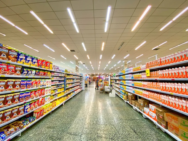 Photo of a store aisle